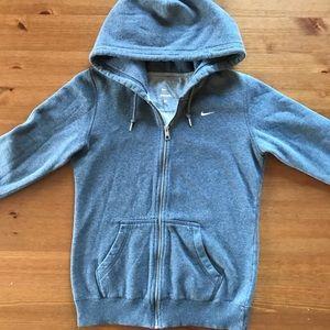 Nike Tops - Nike gray zip up hoodie
